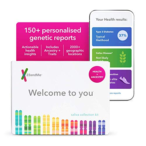 23andMe Health + Ancestry Service: Personal Genetic DNA Test Including Health Predispositions,...
