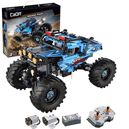 HZYM Technik Buggy Monster Bausteine, 699 bloques de construcción 2,4 G teledirigido todoterreno con motores, compatible con Lego Technic