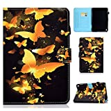 TiKeDa Fire HD 8 Plus Tablet (10th Generation, 2020 Release) Case, Soft TPU Back Cover Slim Smart Shell with Auto Wake/Sleep Function (Gold Butterfly)