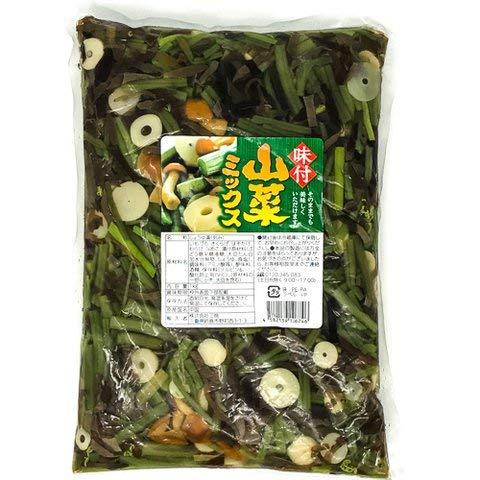 三商 味付山菜ミックス 1kg 【冷凍・冷蔵】 3個