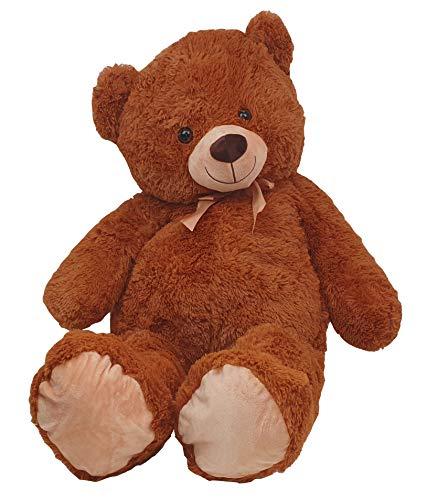 Dika Toys riesiger Teddy Teddybär 100 cm mit Schleife Riesenteddy