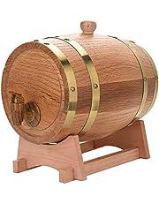 Barrel - Vintage Oak Wine Dispenser para bebidas de licores de vino 1.5L / 3L / 5L (tamaño : 3L Deep Vintage)