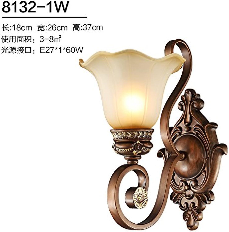 Modern LED Wandleuchte Wandlampe Schlafzimmer Nachttischlampe pastoralen Gang Wohnzimmer Hintergrund Wand Balkon Zimmer Treppe Schmiedeeisen Wandlampe Breite 18 cm von Wand 26 cm Hhe 37 cm