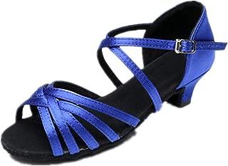 lcky Girls Latin Dance Shoes Low Heel Sandals Salsa Dance Shoes Ballroom