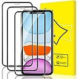 GiiYoon 3 Piezas Protector Pantalla para iPhone 11/iPhone XR Cristal Templado[Sin Burbujas] [Cobertura Completa] [9H Dureza] Vidrio Templado HD Protector Pantalla para iPhone (6.1')