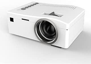Home Mini Projector,Hosamtel UC18 LCD Mini Portable 1080P HD 48LUX LED Home MulitMedia Theater Cinema Video Projector Support USB TV VGA SD AV Multi language,Movie Nights and Video Games White