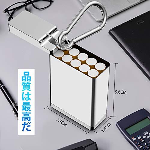 携帯灰皿灰皿アッシュトレイポータブルはいざらふた付き車用灰皿(シルバー)