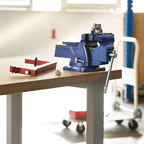 TecTake Schraubstock Amboss 360° drehbar mit Drehteller für Werkbank – diverse Größen – (Spannweite 165 mm | Nr. 401125) - 2