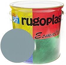 Pintura esmalte sintético de alta calidad ideal para pintar hierros, rejas, portones, puertas, ventanas, madera... Brillante / Satinado / Mate / Forja / Aluminio Plata / Metalizado Varios Colores (0,375Ml, Gris Perla Brillo) Envío GRATIS 24 h.