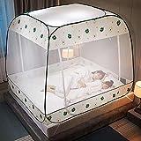 Pop Up Moskitonetz,120x195cm,Portable Faltbare Moskitonetz Zelt Bed Canopy,DREI Türen Insektenschutz Fliegengitter,Moskitonetz Bett,Einfache Installation,für Doppelbett Einzelbett Heim Outdoor