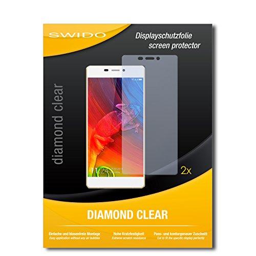 SWIDO 2 x Bildschirmschutzfolie Allview X2 Soul Pro Schutzfolie Folie DiamondClear unsichtbar