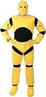 ORION COSTUMES Herren Gelber Crash-Test-Dummy Lustiges Kostüm für die Junggesellenparty
