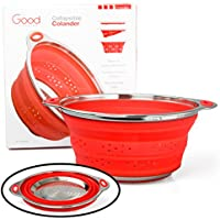 Good Cooking Collapsible Colander with Stainless Steel Base