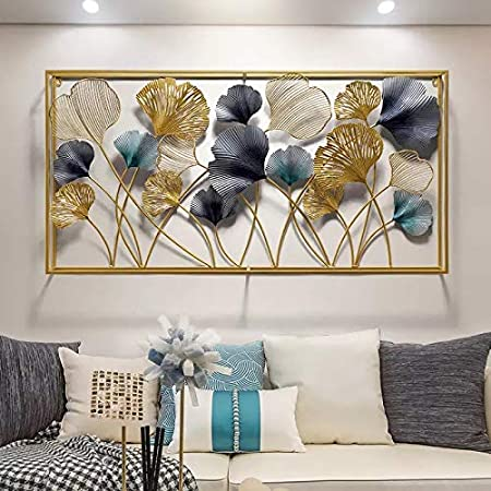 AJ Decor Metal Wall Art Iron Wall Hanging Home Decoration Perfect for Living Room/Hotel/Restaurant/Bedroom/Drawing Room (Color : Multi) (Size: 50 X 30 INCH)