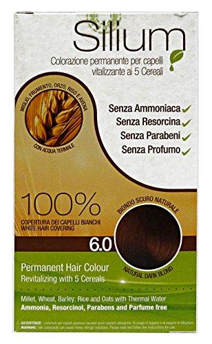 Silium Colorazione Permanente Per Capelli, Biondo Scuro Naturale 6.0-187 Gr
