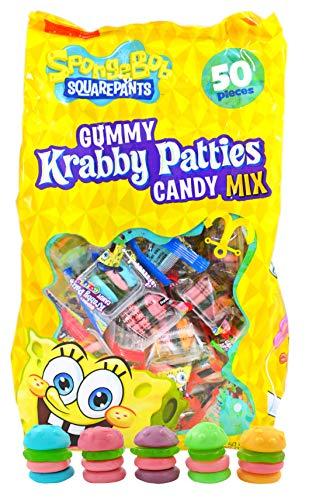 Spongebob Squarepants Gummy Krabby Patties Candy Colors (50 count)