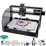 15W 3018 Pro-M CNC Fräsmaschine Engraving Machine, MYSWEETY GRBL Steuerrouter DIY Kit 3 Achsen Kunststoff Acryl PVC Holzschnitzerei 300x180x45mm Mit Offline Controller