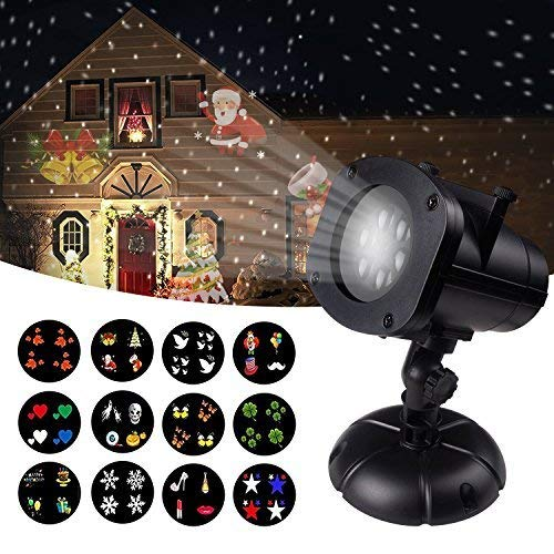 12W Christmas Projector Lights, Jeniulet 2019 Newest Version 12 Patterns...