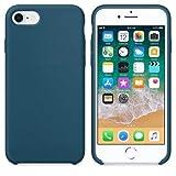 CABLEPELADO Funda Silicona iPhone 7/8 Textura Suave Color Azul Cosmos