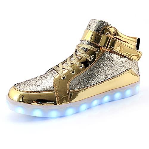 IGxx LED Light Up Shoes Light for Men High Top LED...