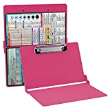 Pink Nursing Clipboard by WhiteCoat Clipboard - Folding Pocket Reference Clipboard - Perfect for On-The-go!