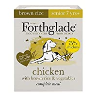 WET DOG FOOD PACK: 18 X 395g trays of brown rice wet dog food made with chicken, brown rice and vegetables. Suitable for senior dogs aged 7+ years NATURAL INGREDIENTS: Bursting with goodness and made using natural ingredients, with added vitamins, mi...