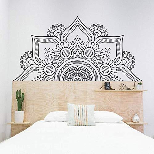 Mandala Etiqueta De La Pared Vinilo Apliques De Pared Arte Geometría Sagrada Decoración Muebles Papel Pintado Autoadhesivo Desmontable 111X57Cm