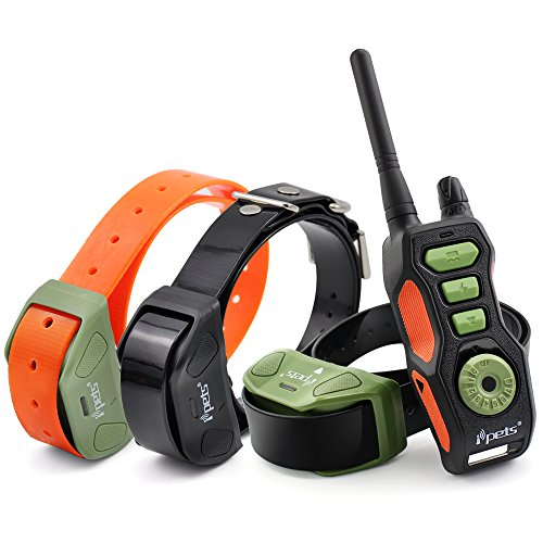 IPETS PET618 Dog Shock Collar with 2700ft Remote Training Collar for Medium Large Dogs 100% Waterproof & Rechargeable Electronic Collar with Beep Vibrating Electric Collar