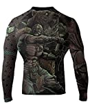 Raven Fightwear Men's Berserker BJJ MMA Rash Guard Medium Black