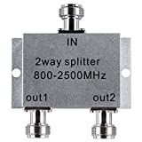 Lysignal Power Splitter 800-2500MHz Signal Divider with N Female Connector for Mobile Cell