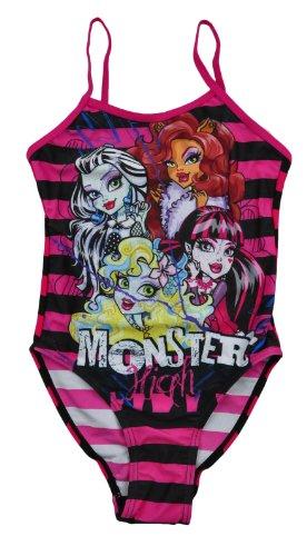Mädchen-Badeanzug, offizielle Lizenzware Monster High Badeanzug, Badebekleidung, Schwimmanzug, für Kinder Gr. Einheitsgröße, Design 5