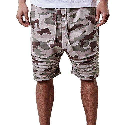 Cayler & Sons Shorts – Csbl Doomed Low Crotch Suedeshorts braun/grün/mehrfarbig Größe: L (Large)