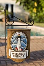 product image for Piazza Pisano Nautical Lighthouse Welcome Sign with Yard Stake