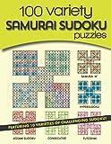 100 Variety Samurai Sudoku Puzzles: 10 varieties of challenging sudoku