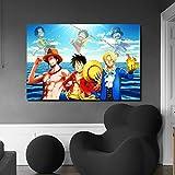 KWzEQ Anime Lienzo Pintura al óleo impresión Sala de Estar decoración del hogar Moderno Arte de la Pared Pintura al óleo Poster Art,Pintura sin Marco,60x90cm