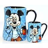 Disneyland Paris Mickey Mouse Mornings - Juego de taza y taza de espresso