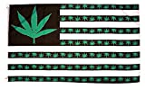 Marijuana Flag 3x5, American Weed Flag, With Double Stitched Edges, Two Brass Grommets, and 100% Polyester Fabric, 420 Flag, Pot Leaf Flag, Pot Flag, Weed Banner, Cannabis Flag, Marijuana Decor