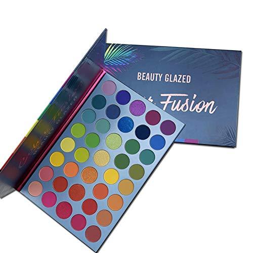 Beauty Glazed Rainbow Neon Eyeshadow Palette - Professional 39 Color Makeup Matte Shimmer Eye Shadow Palettes - Neon Powder Bright Shades Cosmetics Set
