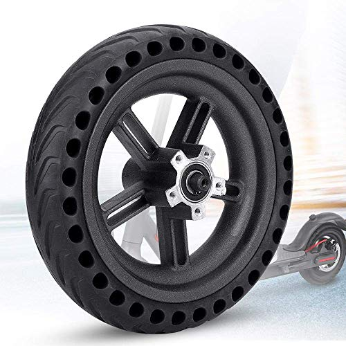 Konesky Solid Tire Replacement for Electric Scooter Xiaomi Mi m365 8.5 inches Scooter Wheel's Replacement Explosion-Proof Solid Tire Wheel Hub Set