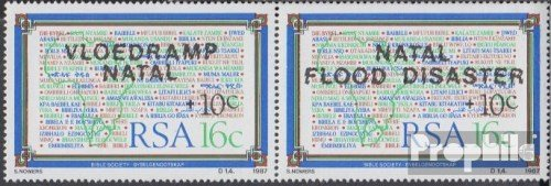 Prophila Collection Sud Africa 719-720 Coppia (Completa Edizione) 1987 Flutkatastrophe in Natal (Francobolli per i Collezionisti)