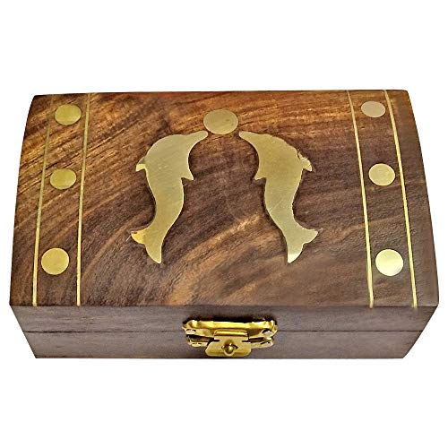 Jewelry Box with Dolphin Motif