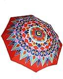 Automatic Open Close Windproof Compact Folding Travel Umbrella w/8 ribs