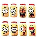 Set of 8 Beer Can Sleeves - Neoprene Drink Cooler for Cans - beverage insulator for gift and parties - Collapsible and Insulator Beer Holder - Funny sleeves for cans