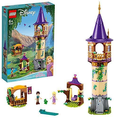 LEGO 43187 DisneyPrincess TorredeRapunzel, Juguete de Construcción para Niños y Niñas a Partir de 6 años con 2 Mini Figuras