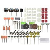 Mini kit de brocas eléctricas 173 piezas 1/8'vástago abrasivo juego de accesorios de herramientas rotativas para pulir lijado pulido-Caja de 173 piezas