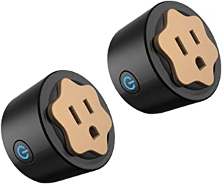 Wifi Smart Plug, Mini Outlet Smart Socket with Timing Function Control Your Electric Devices from Anywhere Compatible with Amazon Alexa 2-Pack