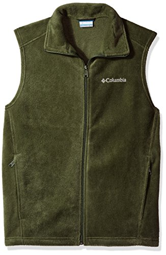 Columbia Men's Steens Mountain Full Zip Soft Fleece Vest, Surplus Green, Large