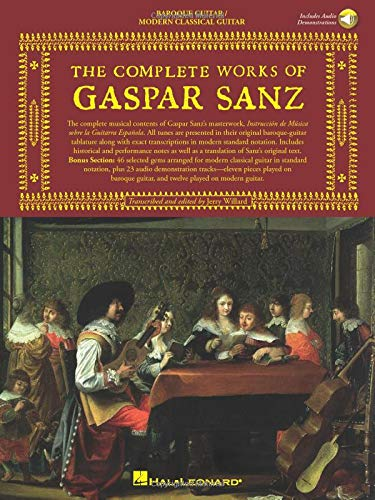 The Complete Works of Gaspar Sanz: 2 Books with Online Audio