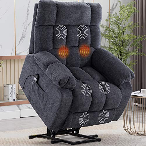 CANMOV Power Lift Recliner Chair for Elderly with Heat & Massage, Heavy Duty Lift Reclining Chair...
