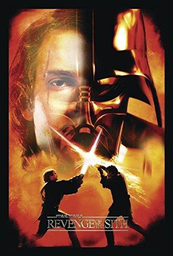 Póster Star Wars Episode III The Revenge of the Sith/Episodio III La Venganza del Sith 'Batalla final' (68,5cm x 101,5cm) + 2 marcos negros para póster con suspención
